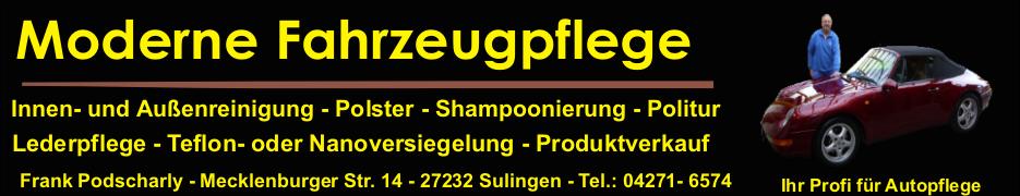 Autowaschen ohne Wasser und erweiterte Autopflege Dienstleistungen in Sulingen und Umgebung.